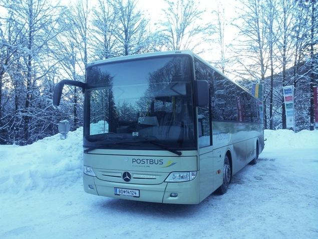 Hallstatt ile Dachsteinbahn arasında çalışan otobüs