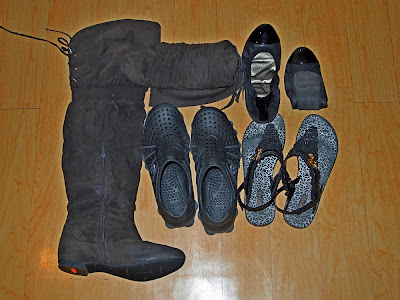 Footwear for RTW Packing List