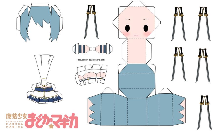♡ ☆ ♫ Yui Papercraft World ♫ ☆ ♡: Sayaka Miki Papercraft ...