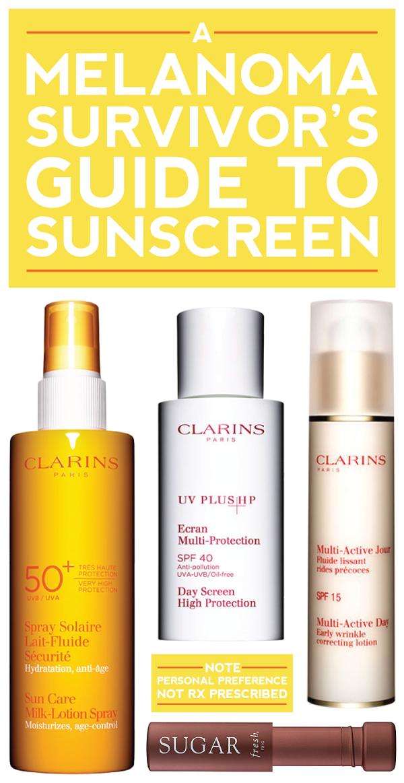 a melanoma survivor's guide to sunscreen.