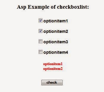 Asp checkboxlist Example using C#