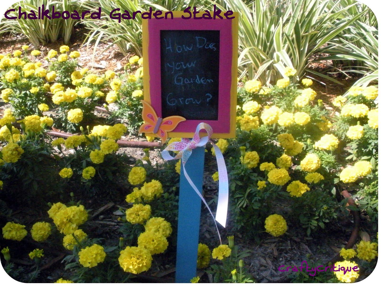 Supplies For Garden Stake: Chalkboard ...