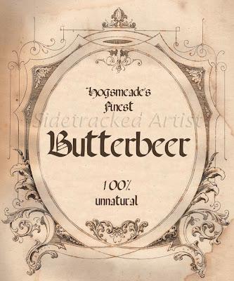 Blank Harry Potter Labels Butterbeer bottle labels
