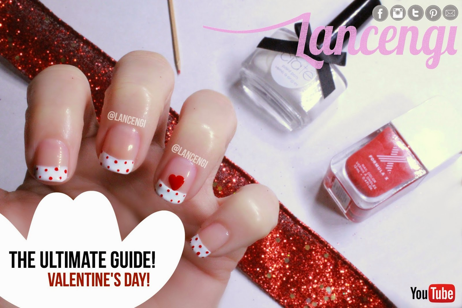 Nails lancengi nail art for valentines day cute nail polish designs the ultimate guide 1 no tools needed prinsesfo Images