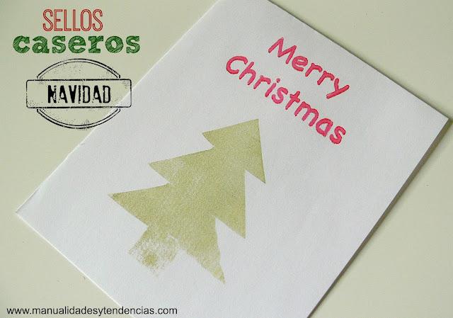 Cómo hacer sellos caseros para Navidad