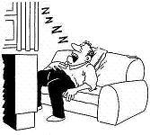 Dormido frente a la televisión