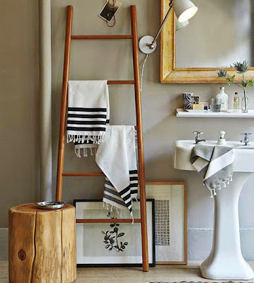 wooden ladder modern interior decorating ideas rustic style bathroom