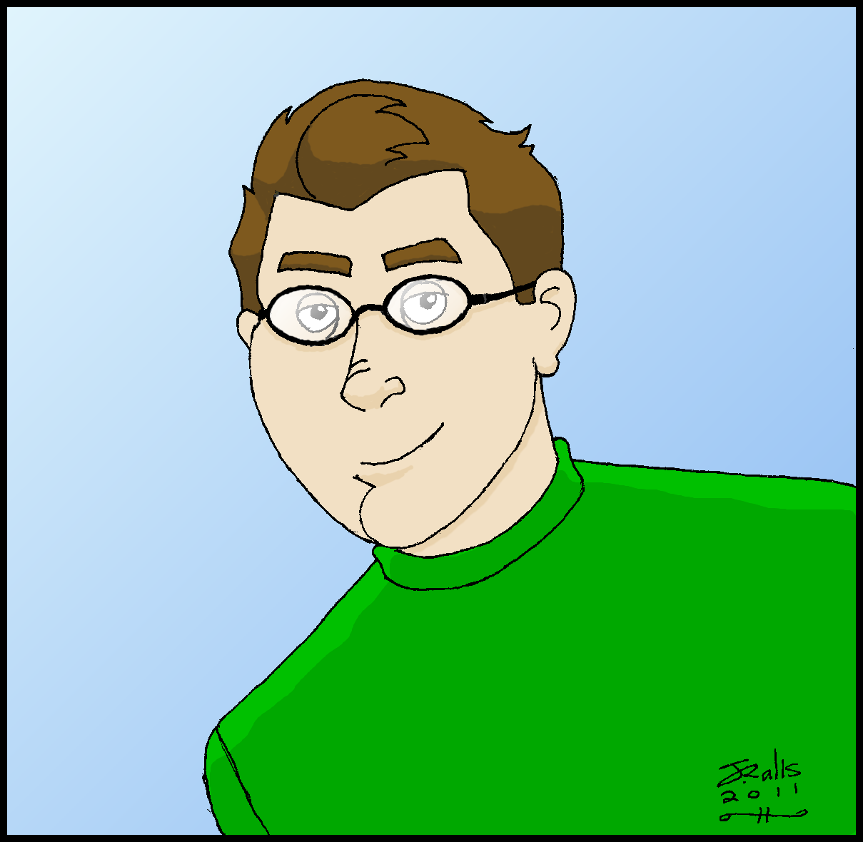 Cartoon Self Portrait 2