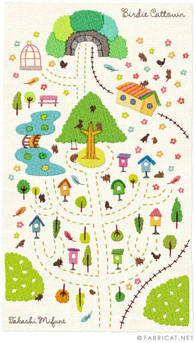 可愛いイラスト地図 小鳥番地