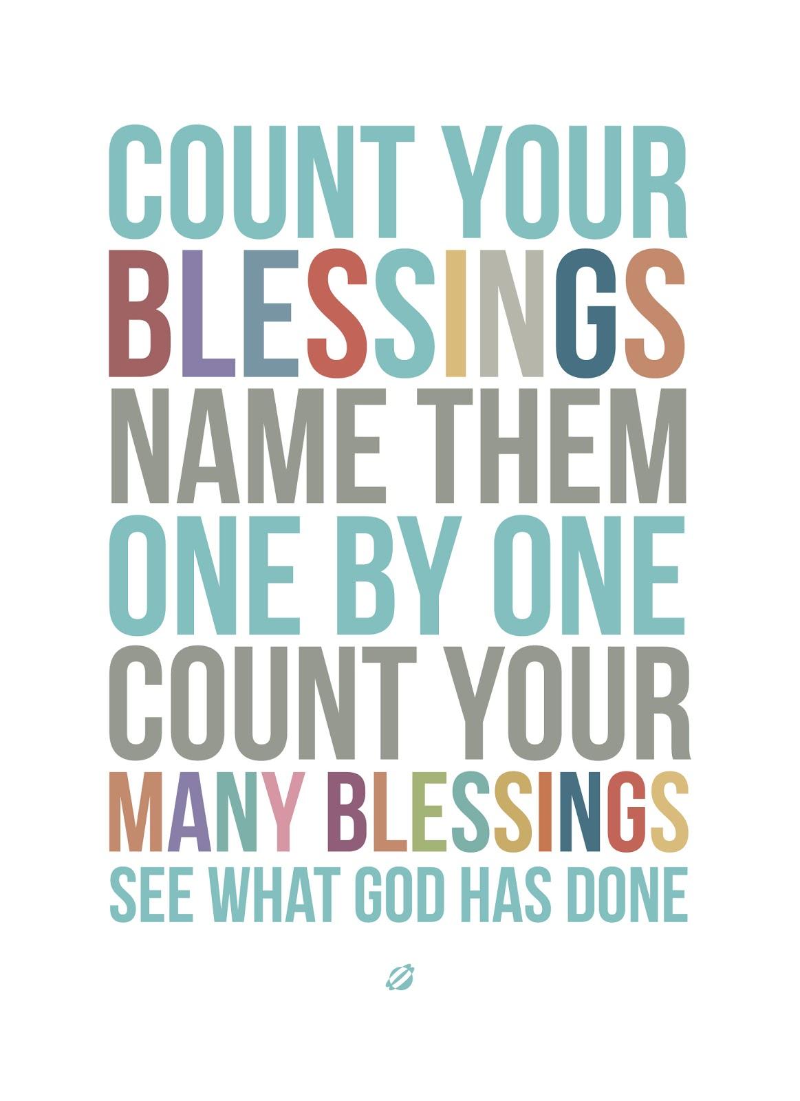 Afbeeldingsresultaat voor count your blessings