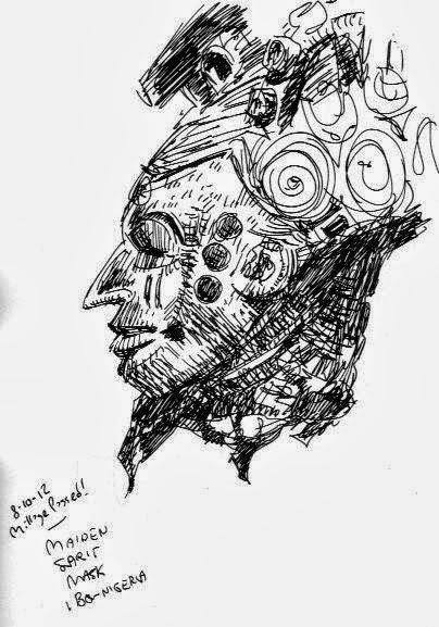 ibo, african mask, dia, detroit, sean bieri