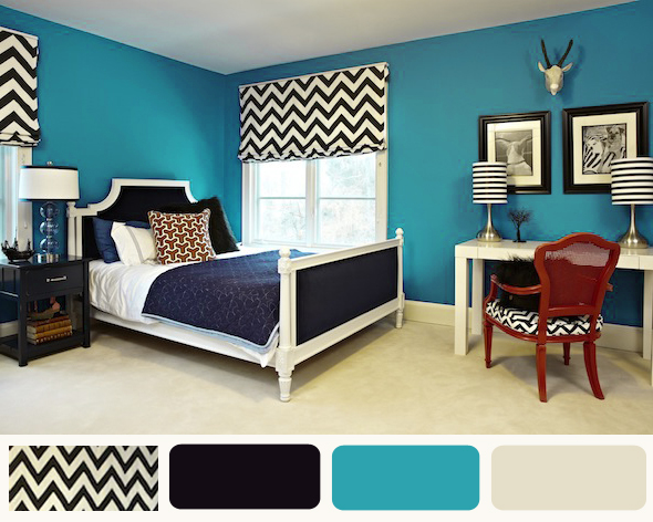 Cool Teenager And Master Bedroom Design. Liv Luv Design Color Palette Gray And Turquoise Bedrooms Aqua