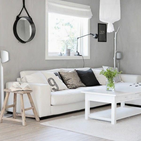 Boho deco chic como darle vida a un sof blanco for Sofa gris y blanco