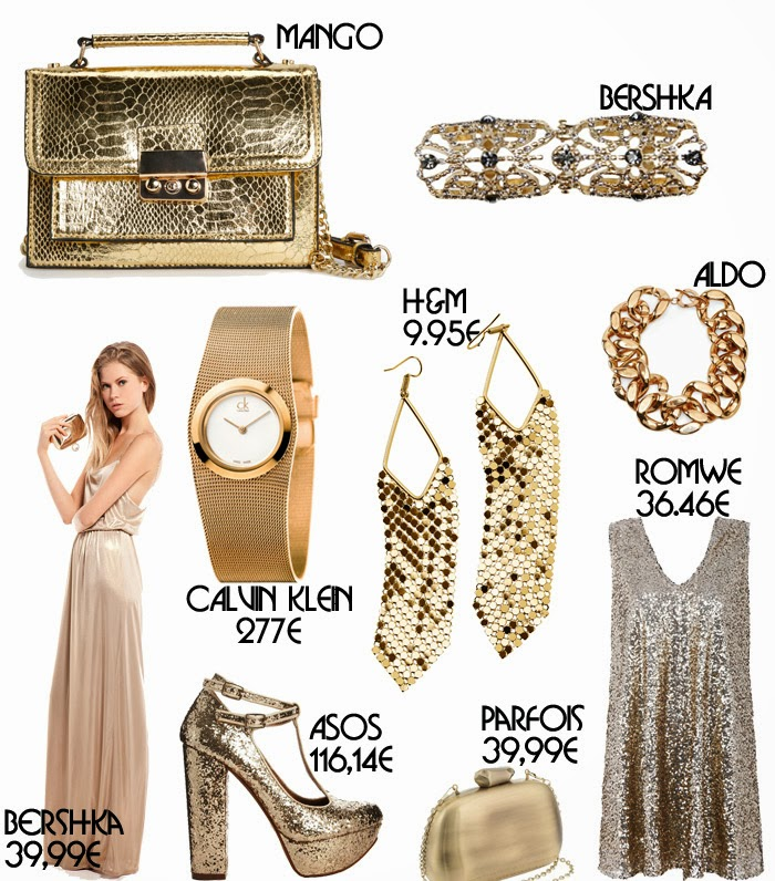 Golden accessories for the festive season.