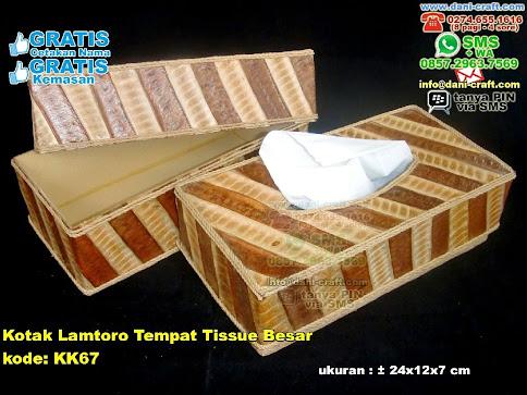 Kotak Lamtoro Tempat Tissue Besar Karton Daun Lamtoro