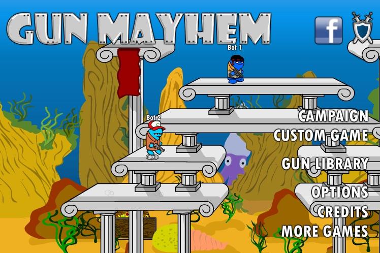 Gun mayhem a fun flinging skirmish