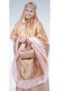 Mukena Abutai - Coklat Muda (Toko Jilbab dan Busana Muslimah Terbaru)