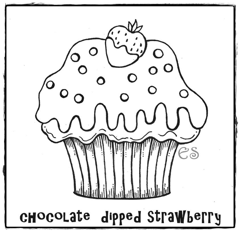 Menina Cupcake Com Risco Para Pintar | Jongose Ninja