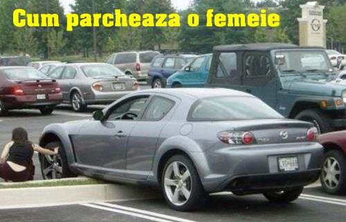 Modul cum parcheaza o femeie masina