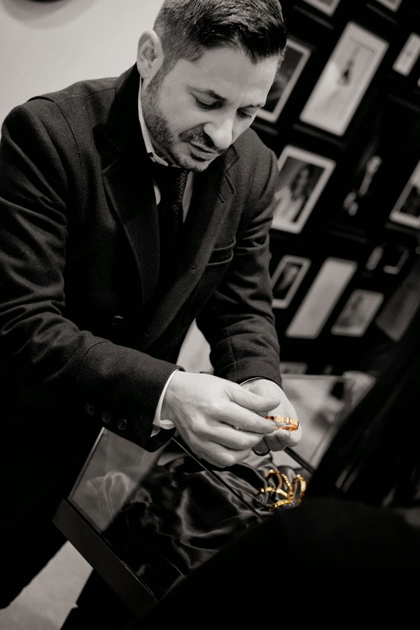 Stefano Canturi showing the 'Eternal' bracelet, Eternal jewellery - Canturi Photographed by Kent Johnson.