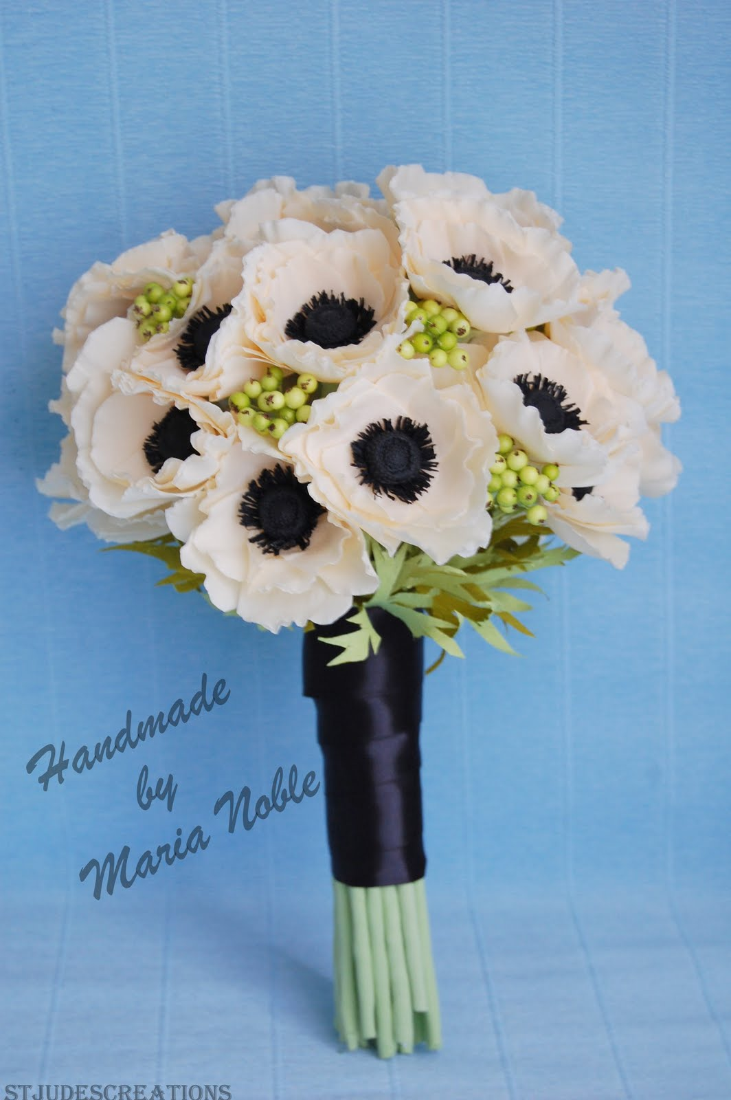 Anemone Wedding Bouquet Paper Flower Bouquet Handmade Paper