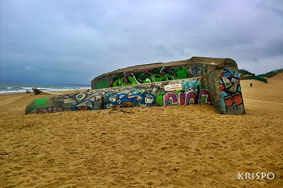 bunker semienterrado en las landas