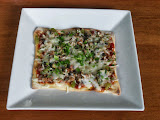 Sausage, Peppers, and Mushroom Pizza