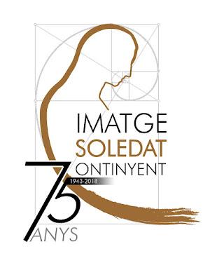 Logotip del 75 anys de la talla de la Soledat d'Ontinyent