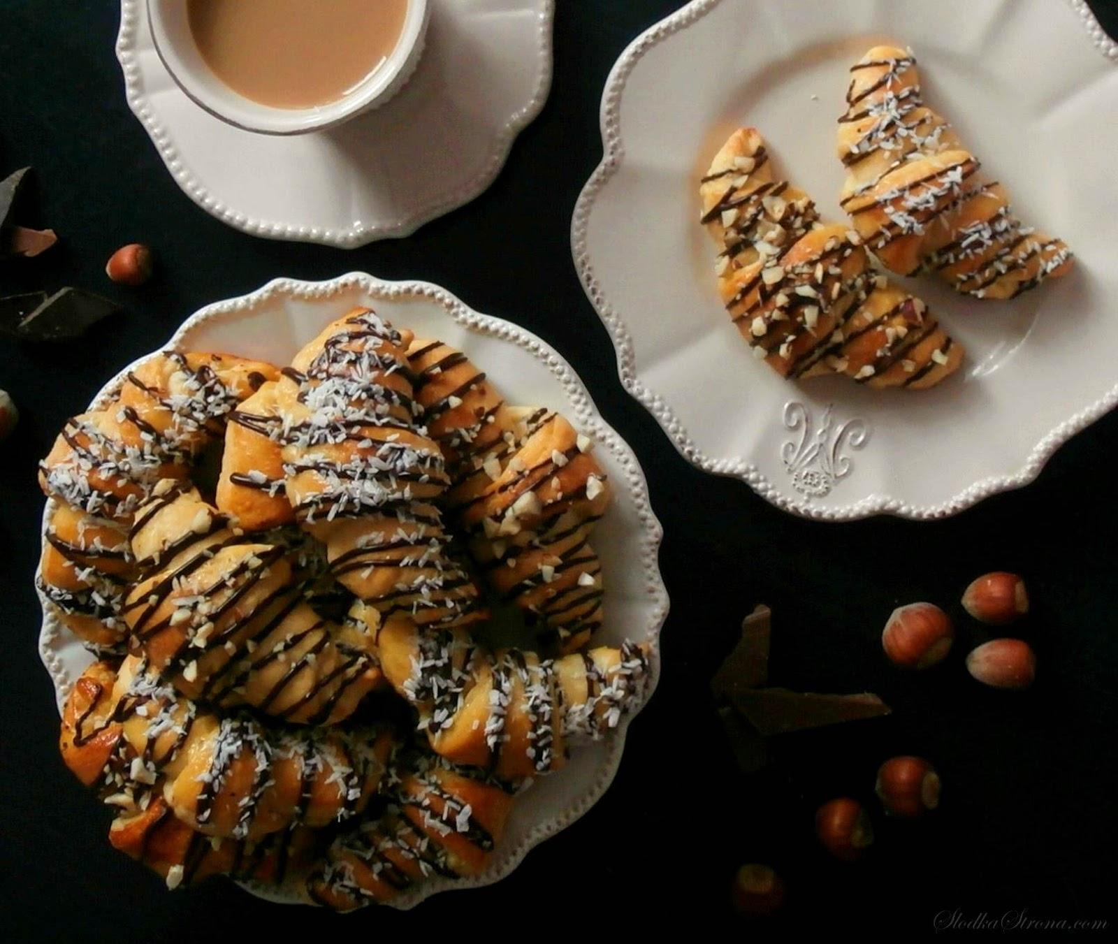 Mini Croissants z Czekoladą - Przepis - Słodka Strona