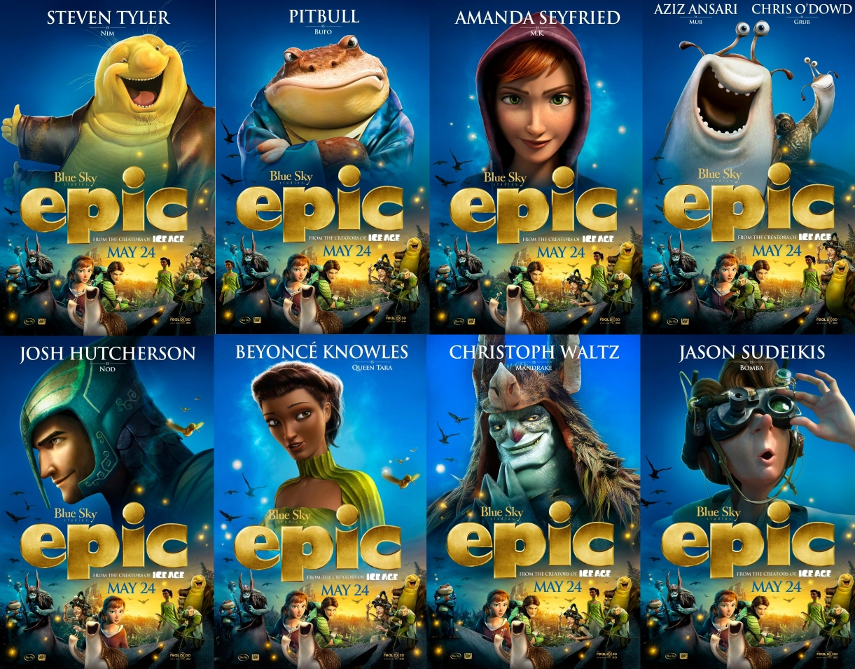 Epic movie blue sky characters