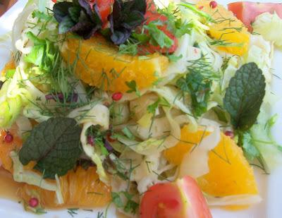 Eisberg- Fenchel-Orangen - Salat