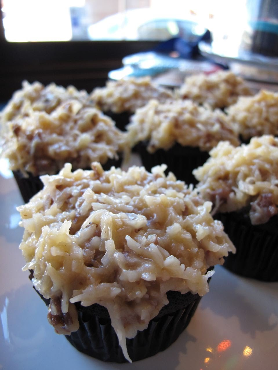 ... german chocolate cupcakes (pictured), icebox cupcakes, boston cream