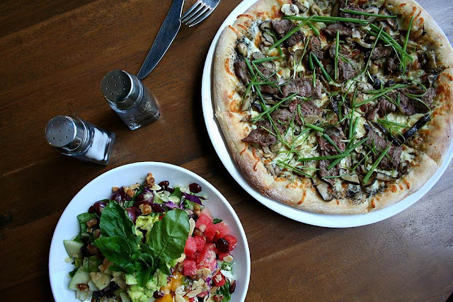 California Pizza Kitchen Fruit N' Nut  Steak, Mushroom and Truffle