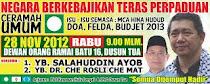 CERAMAH UMUM - ISU-ISU SEMASA : MCA HINA HUDUD, BUDJET 2013 DLL.