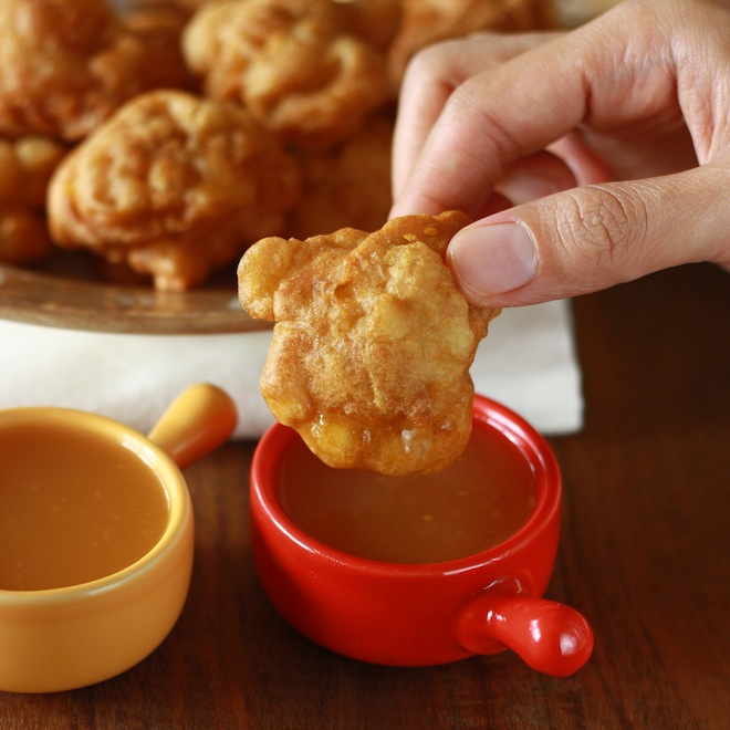 Fried Apple Fritters recipe by SeasonWithSpice.com