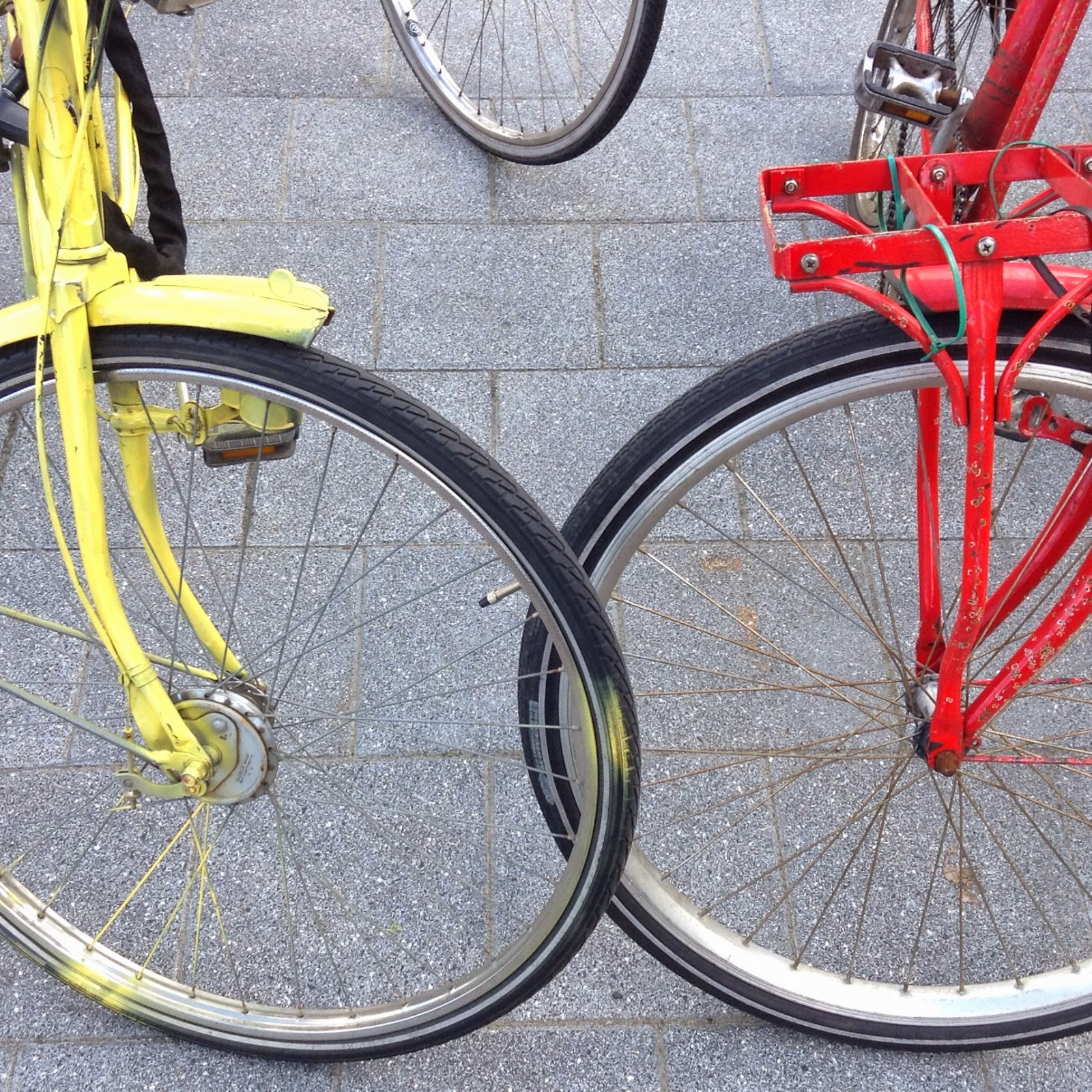 red and yellow bike