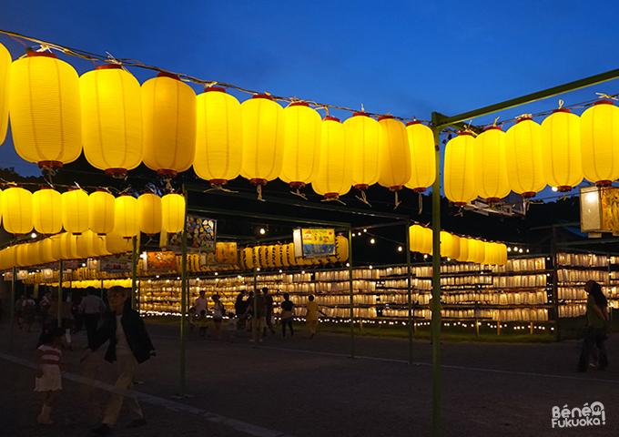 Festival des lanternes Mitama Matsuri, sanctuaire Gokoku, Fukuoka
