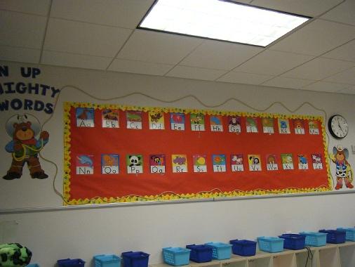 Word Wall Ideas For Preschool : Krazee kindergarten word wall