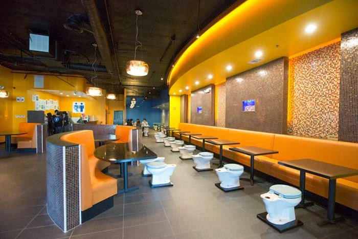 Magic Restroom Cafe, America's first bathroom-themed eatery, soft opened October 11 in City of Industry, one day ahead of schedule.