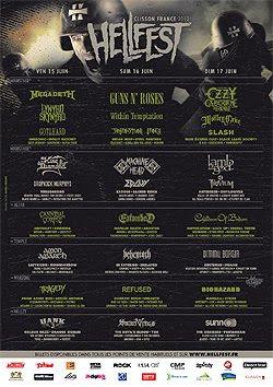 Horarios y cartel confirmado del HellFest 2012