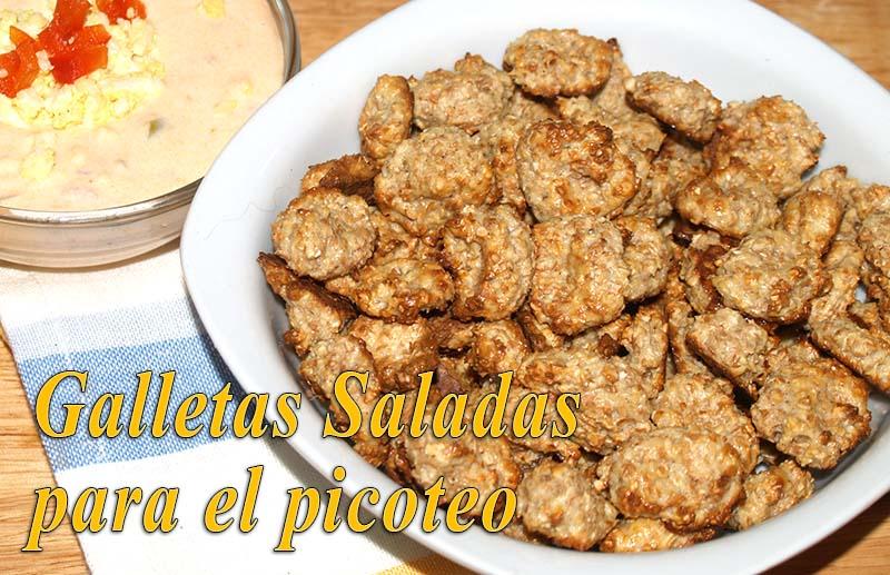 galletas saladas para el picoteo