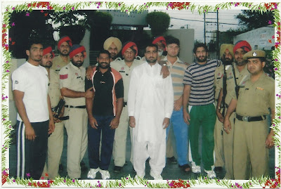 Pakistani kabaddi team in india with security guards