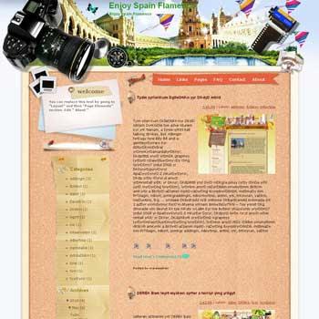 Enjoy Spain Flamenco Blogger Template. free download template blogspot