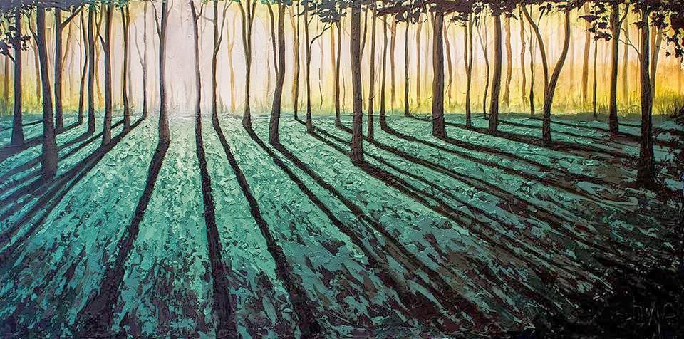 Monkey Forest Acrylic Painting