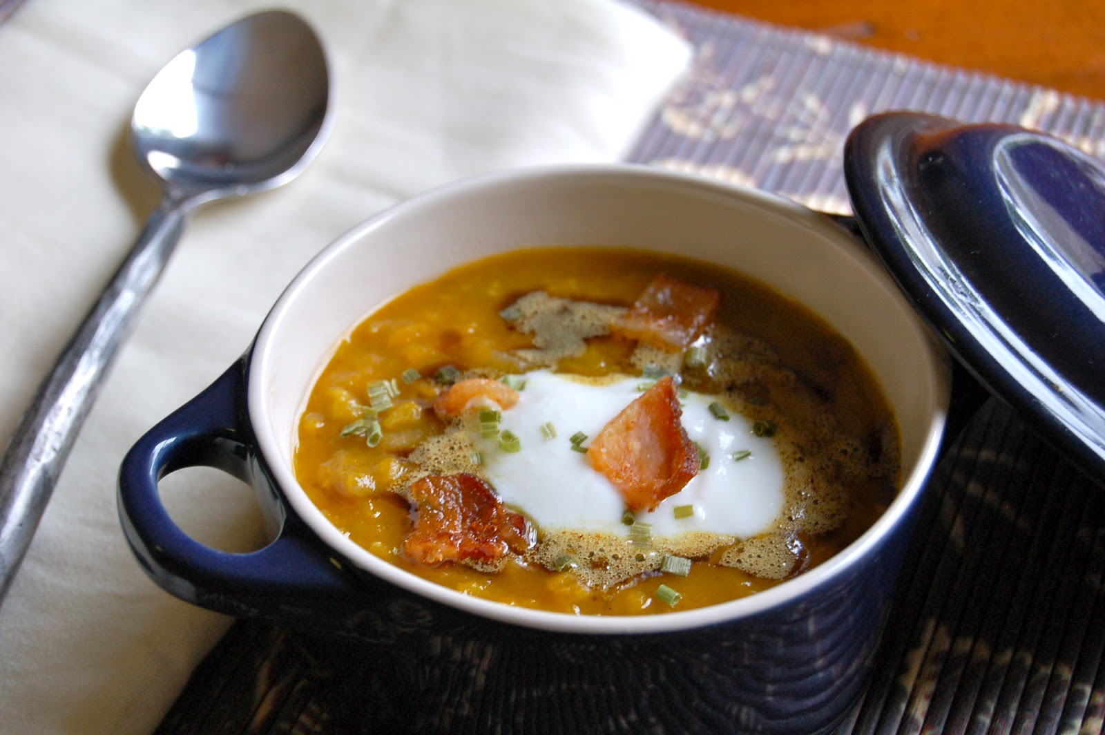 Green Lentil Soup With Curried Brown Butter Recipes — Dishmaps