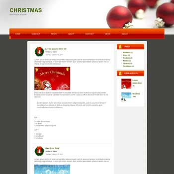 Christmas blog template. download blogger template for christmas