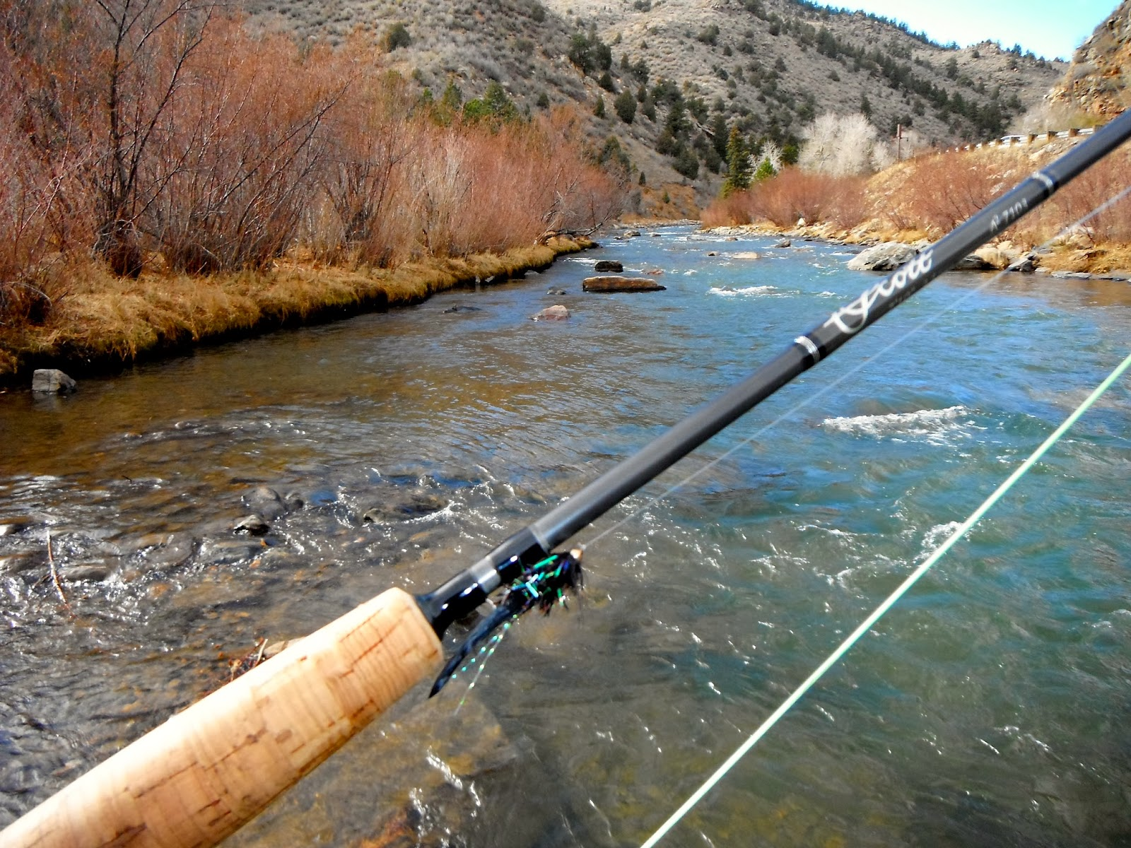 Tie and fly colorado clear creek 11 8 13 for Clear creek fishing