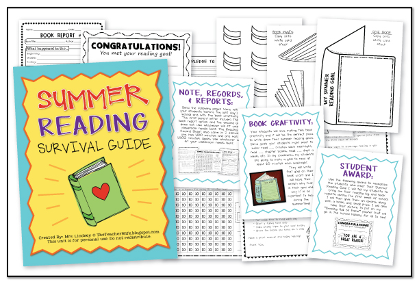 the teacher wife summer reading survival guide a craftivity. Black Bedroom Furniture Sets. Home Design Ideas