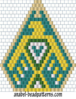 схемы бисероплетение мозаика кирпичное серьги free peyote earrings patterns