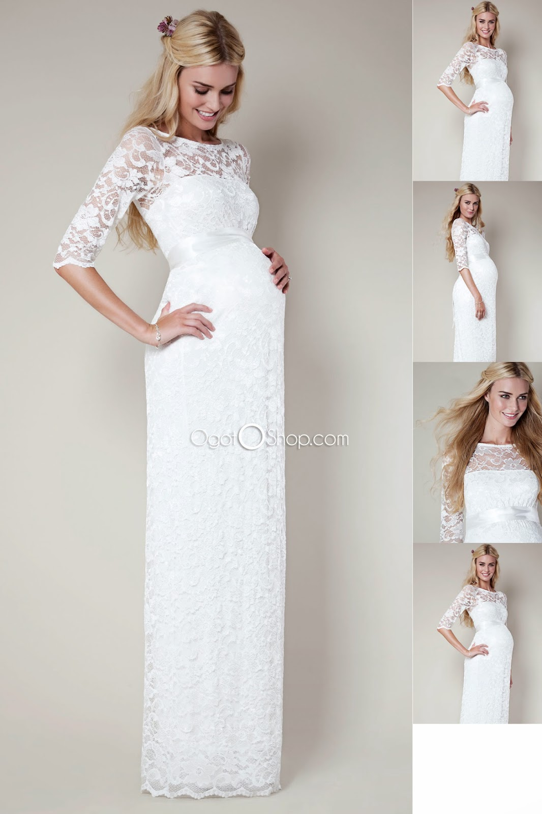elegant white with lace maternity baby shower dresses winter